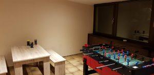 Nebenzimmer mit Tischkicker